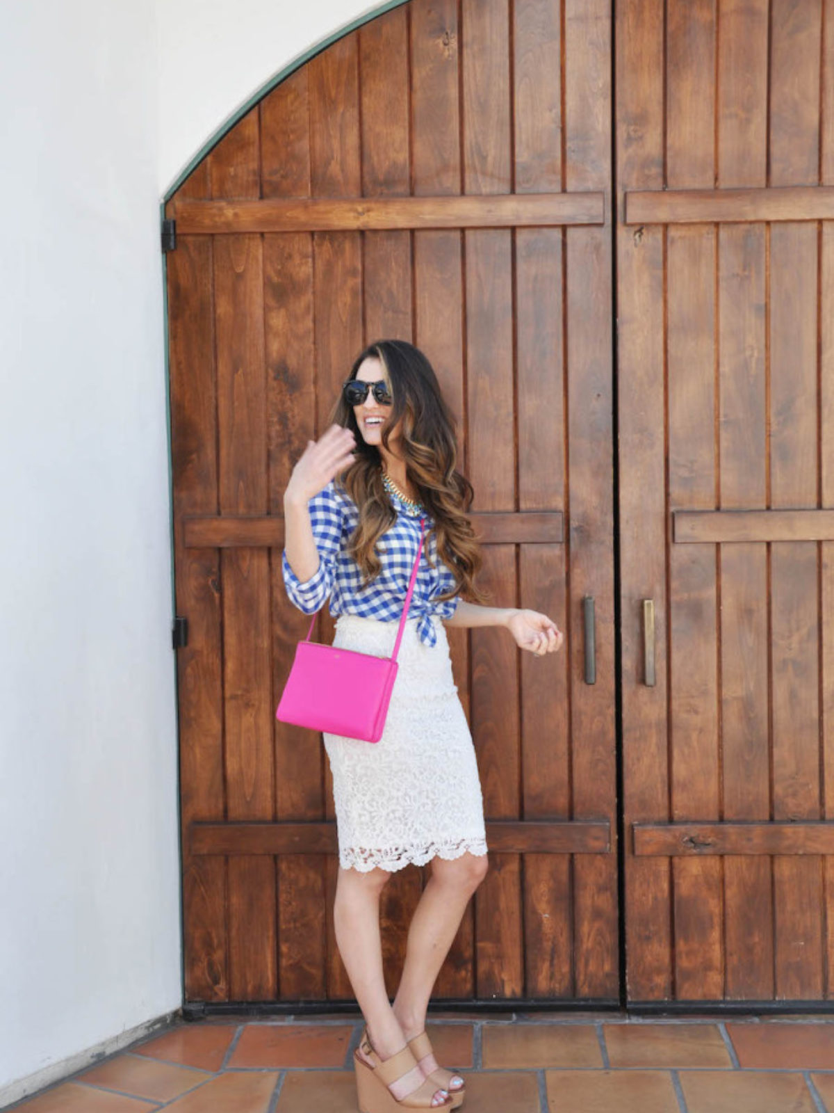 gingham and white lace_styled by kasey