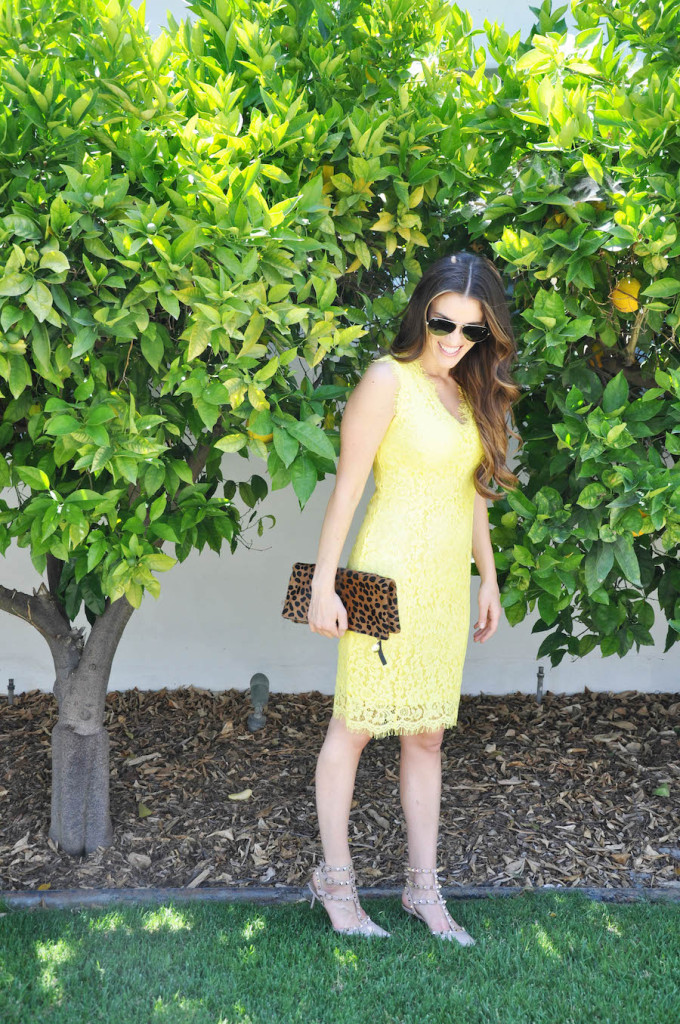 neon yellow lace dress_styled by kasey