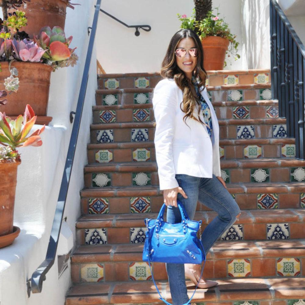 white blazer blue balenciaga_styled by kasey