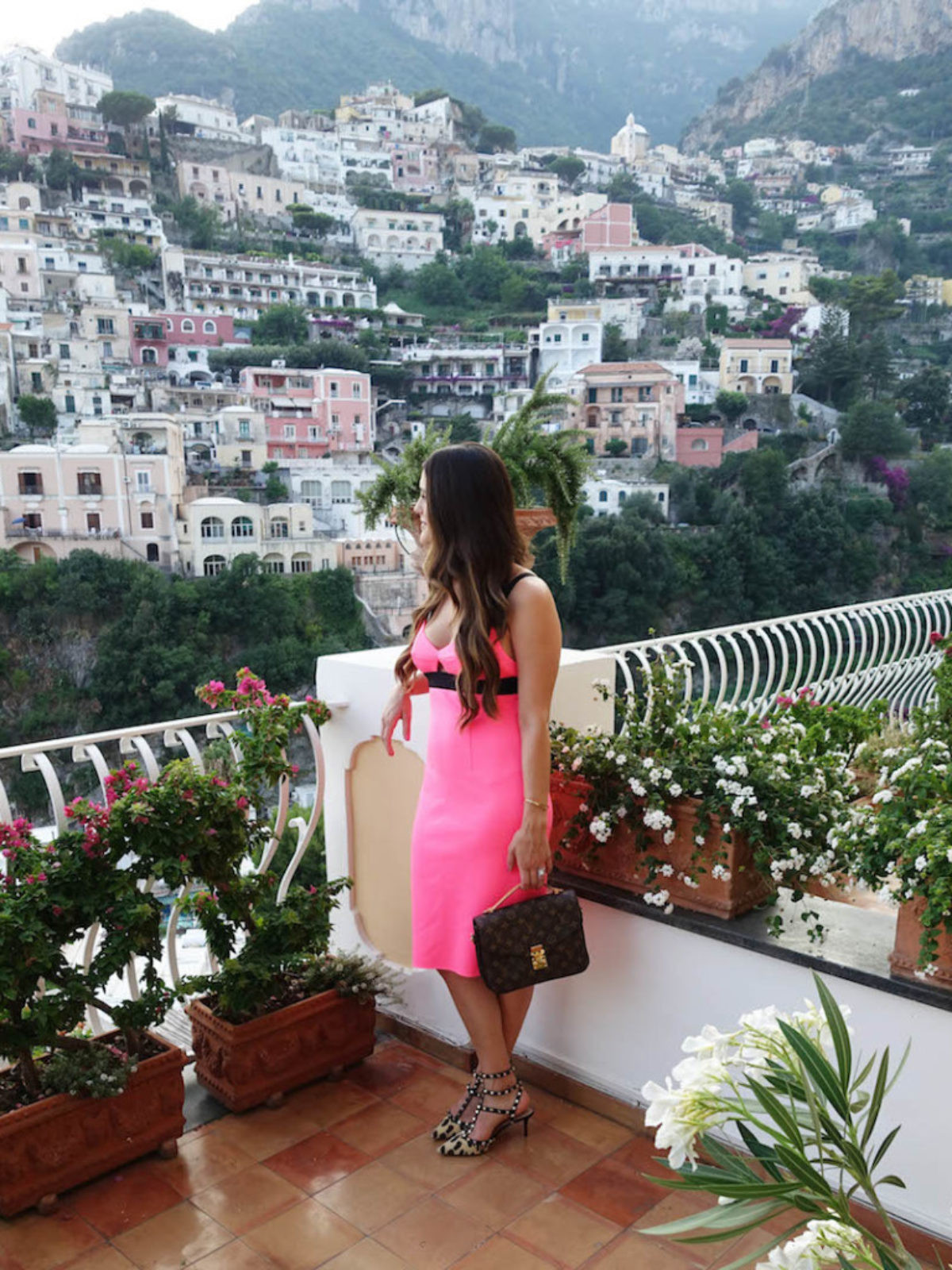 Positano pink dress_styled by kasey