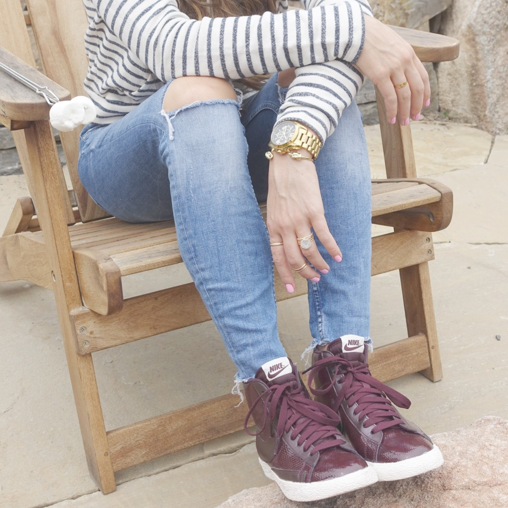 burgundy sneakers_styled by kasey