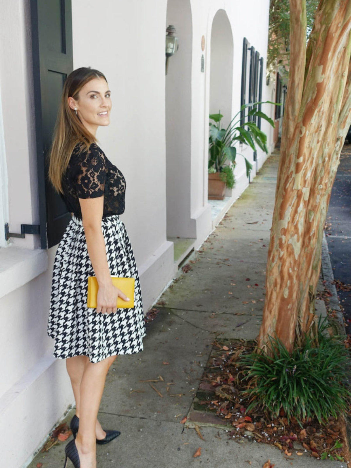 houndstooth and lace