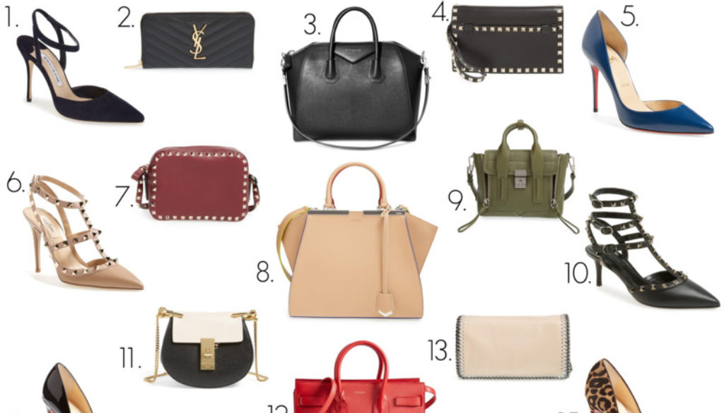 splurge worthy heels and handbags