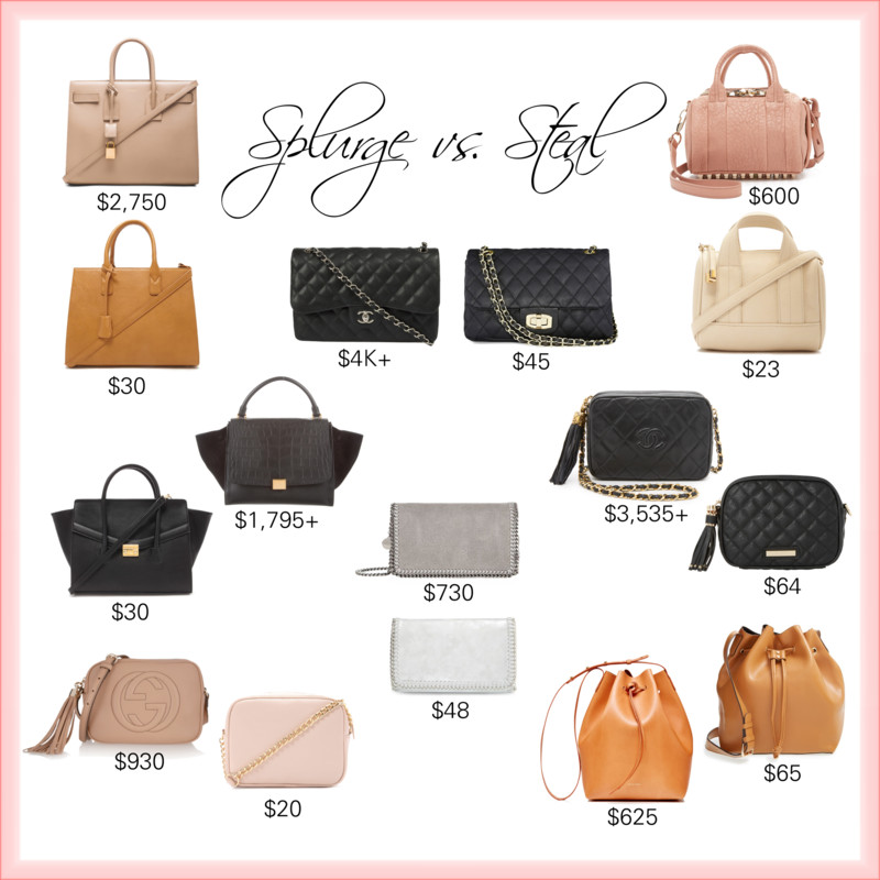 splurge vs steal handbags_styled by kasey