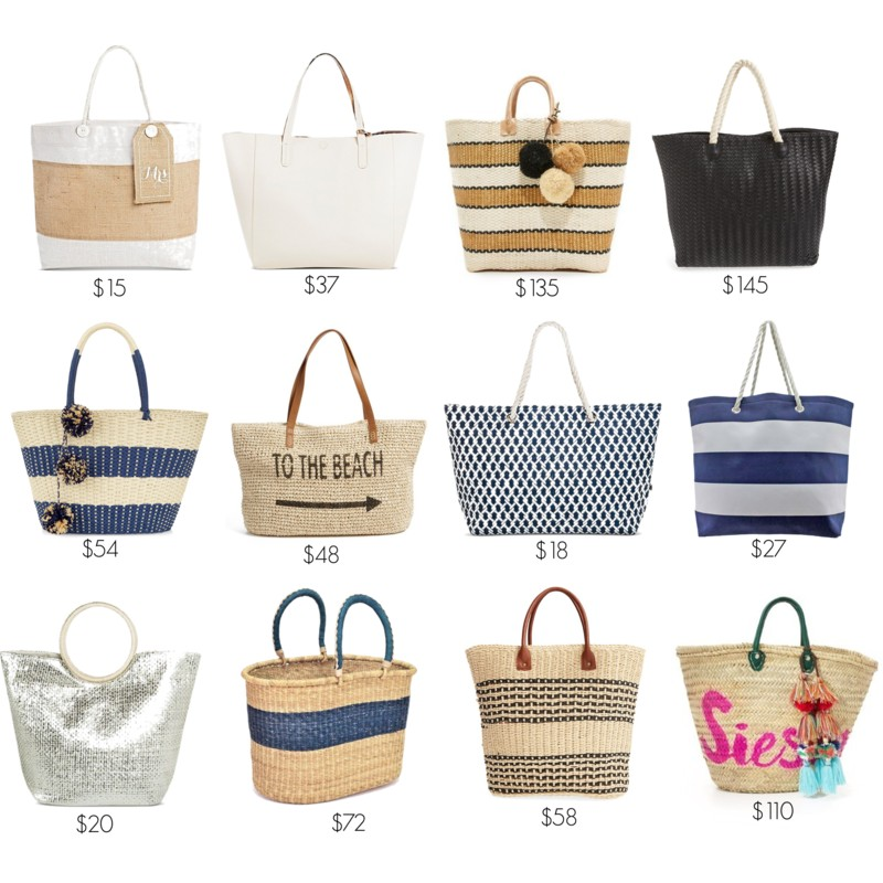 summer totes styled by kasey