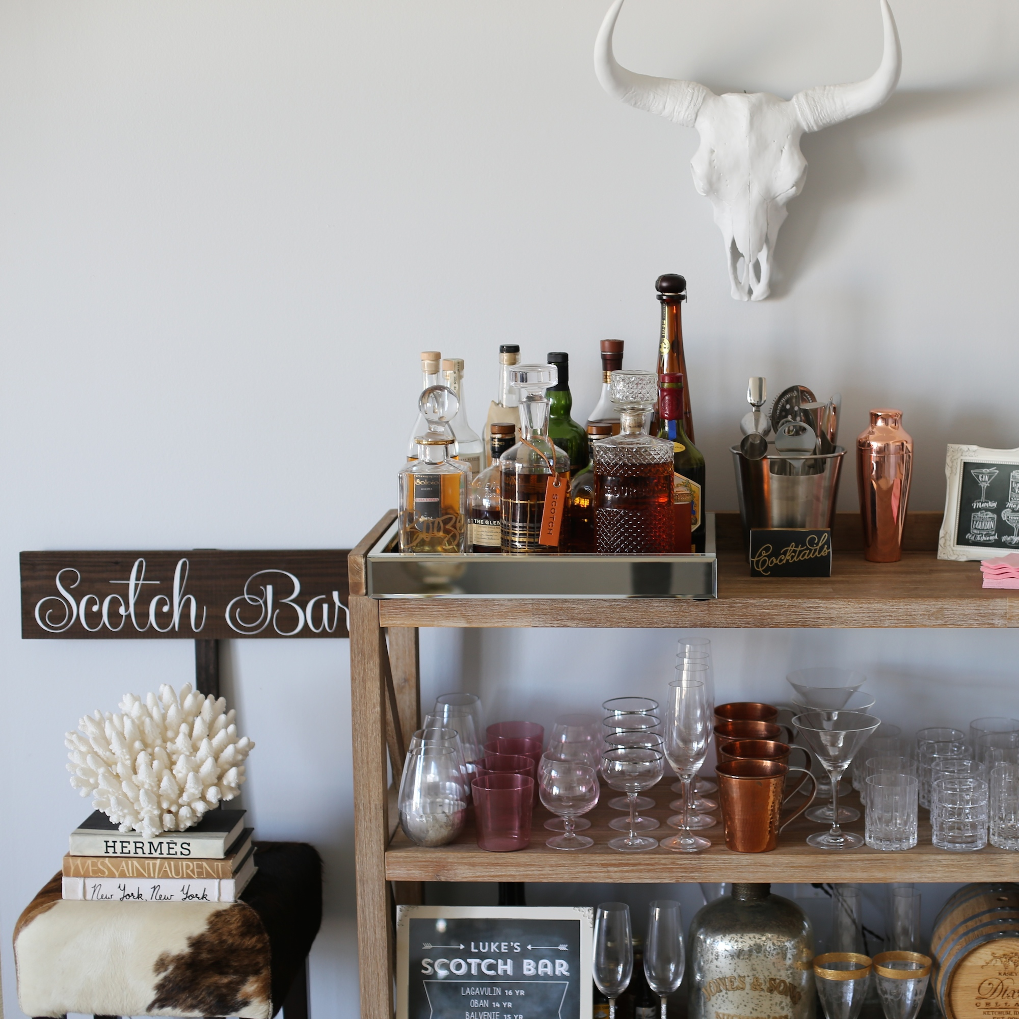 bar cart styled by kasey