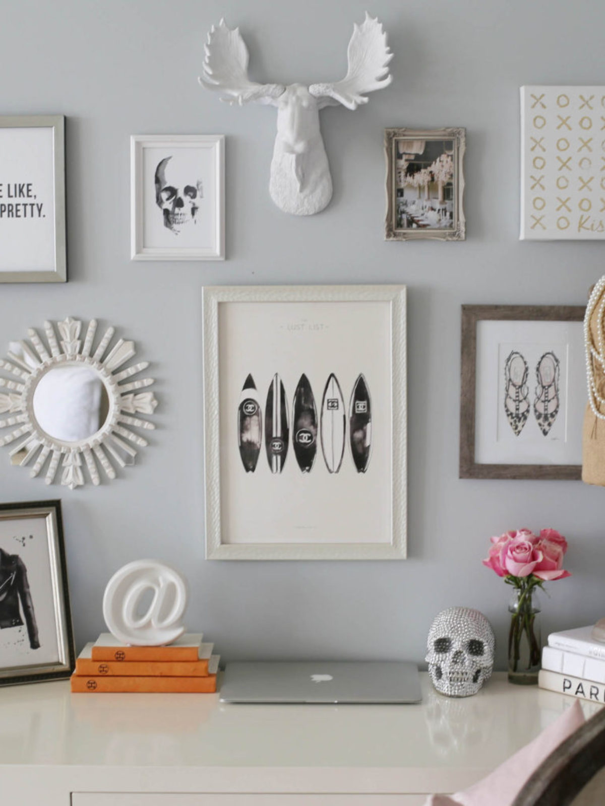 desk home office styled by kasey