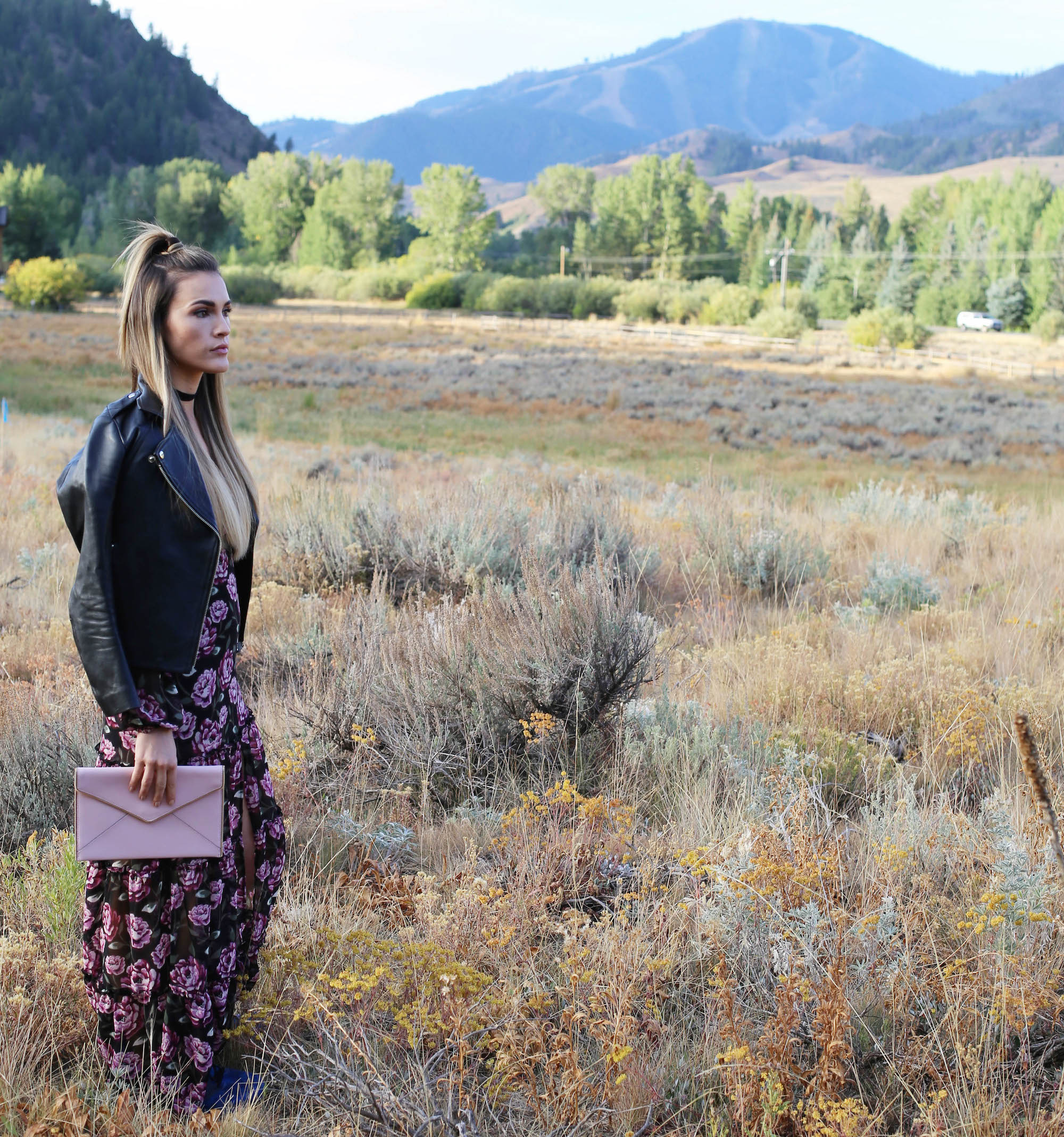 fall floral maxi styled by kasey
