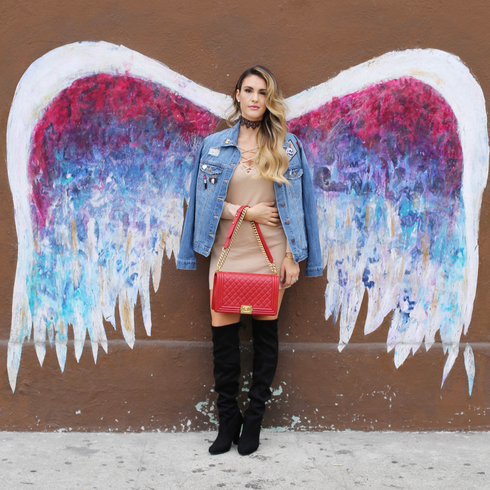 la angel wings wall styled by kasey