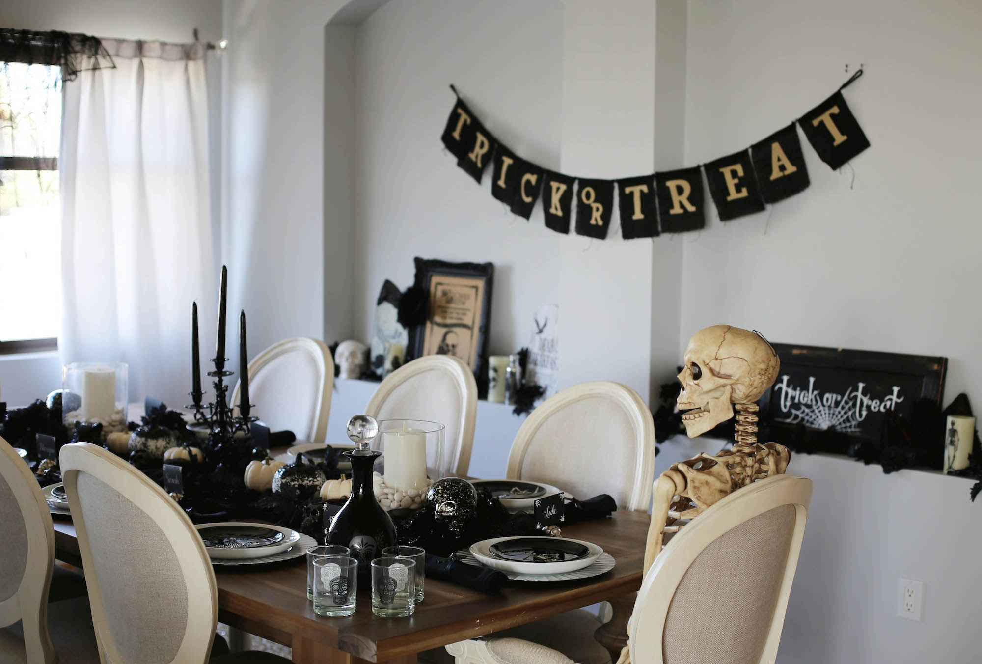 halloween tablescape styled by kasey