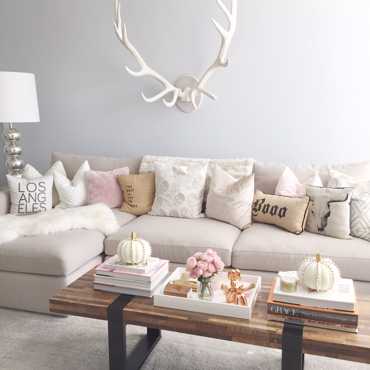 Home decor archives styled by kasey for Antler decorations for home