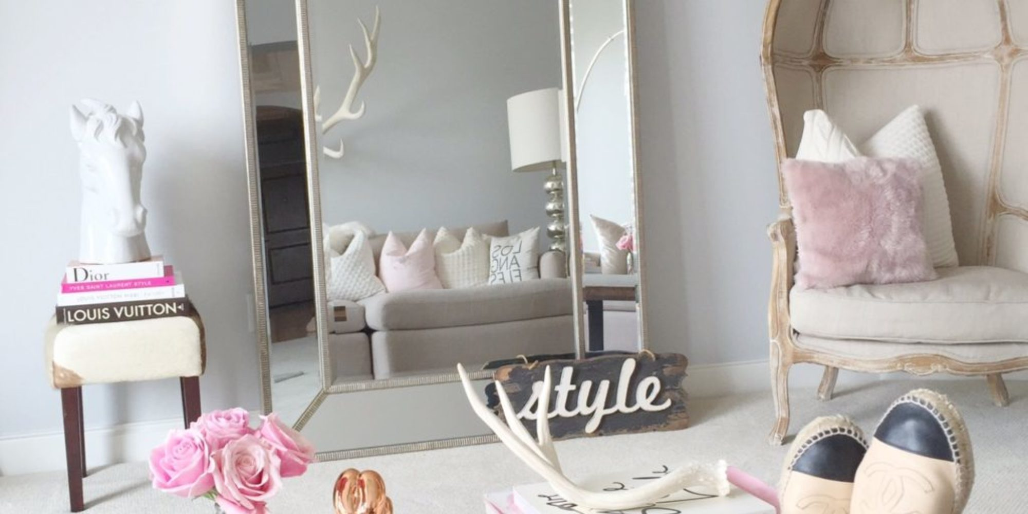 antler decor rustic chic
