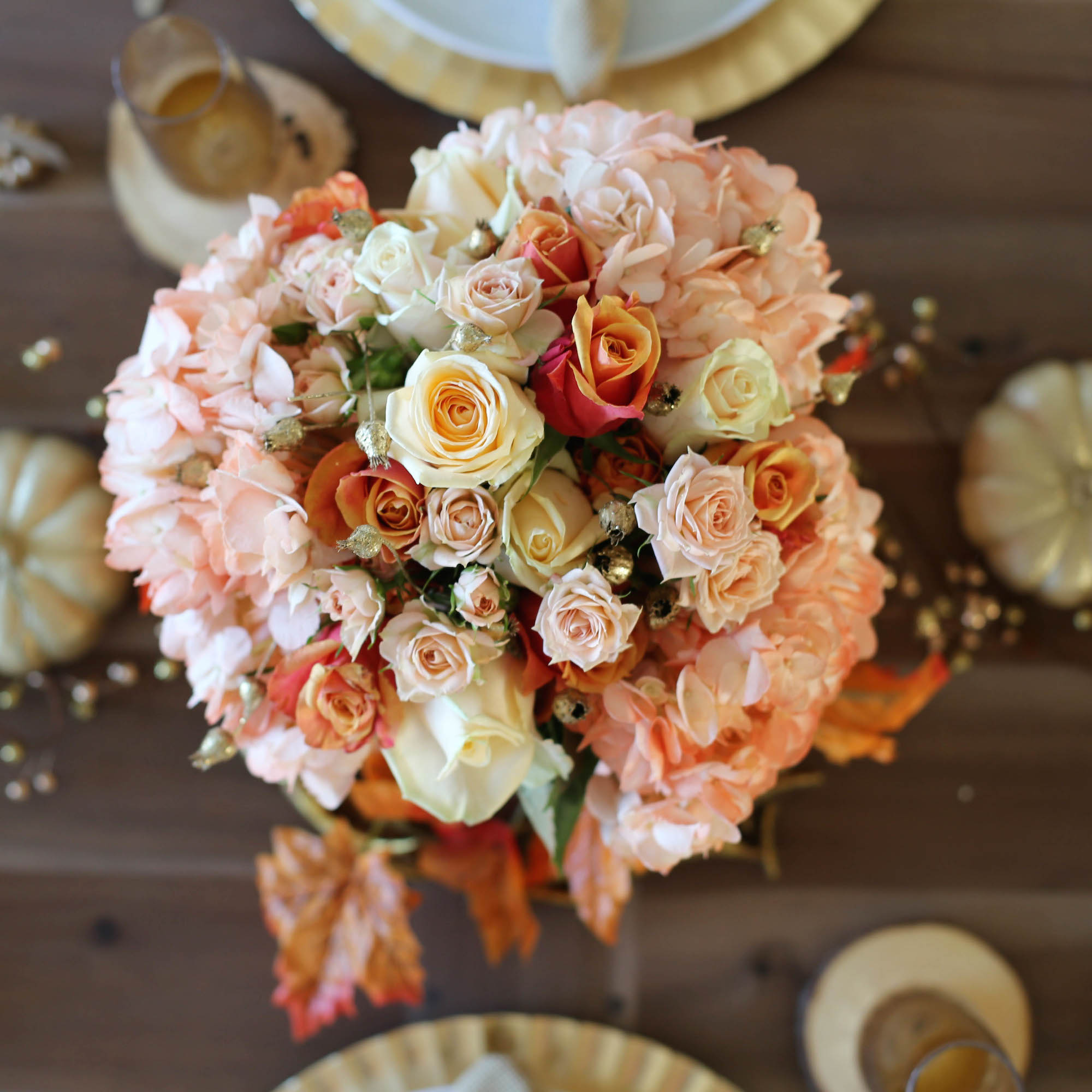 thanksgiving tablescape styled by kasey