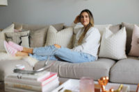 living room cozy styled by kasey