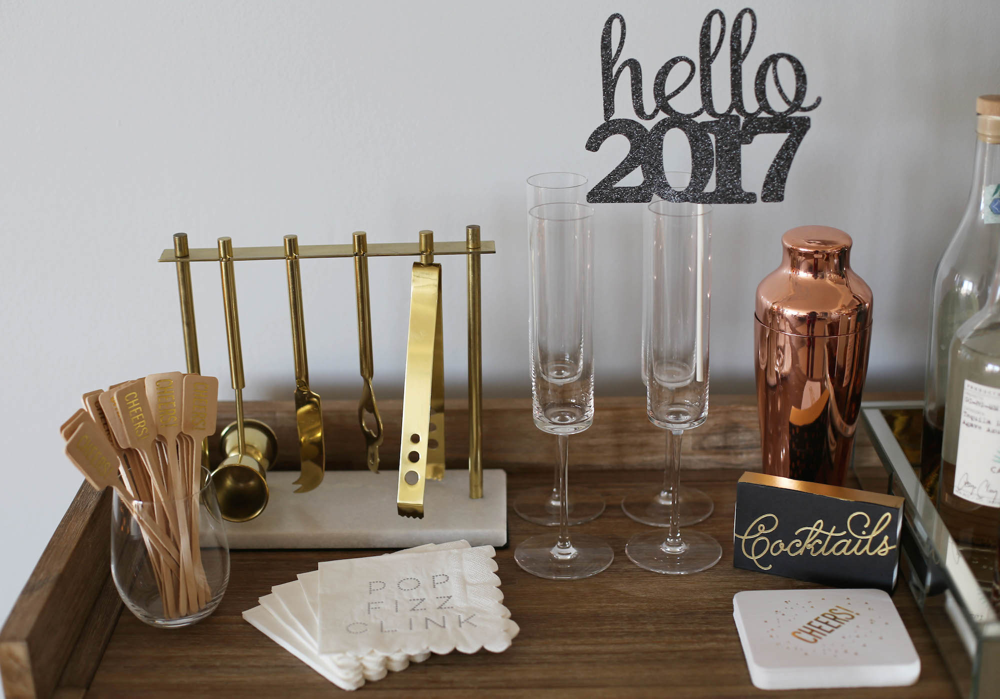 nye bar cart styled by kasey
