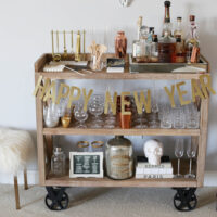 nye bar cart styled by kasey