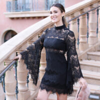 bell lace dress styled by kasey