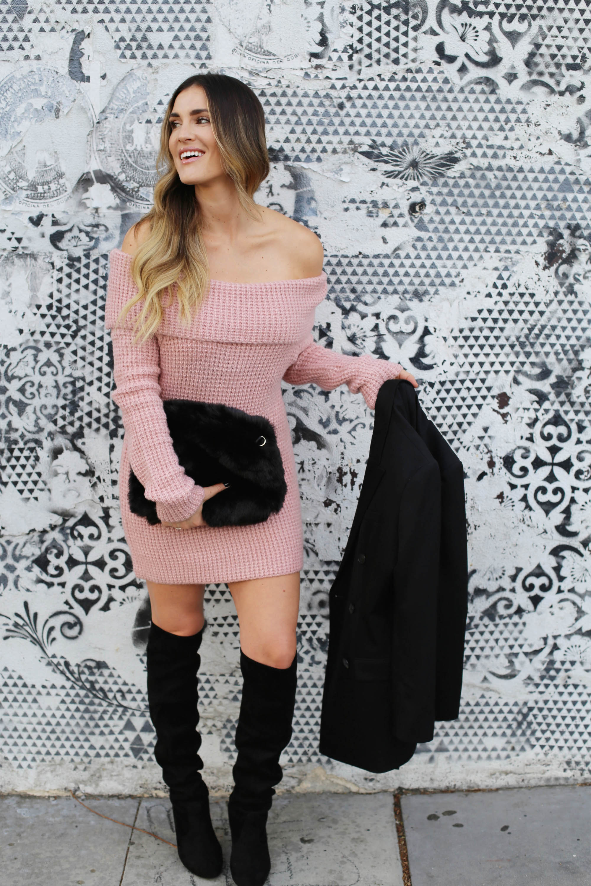 blush and black styled by kasey