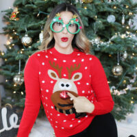 holiday sweater styled by kasey