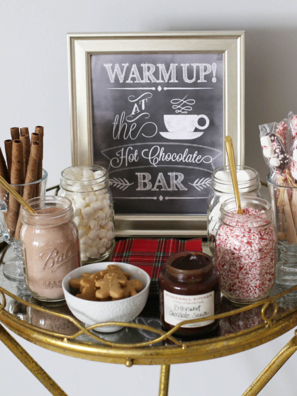 hot cocoa bar styled by kasey