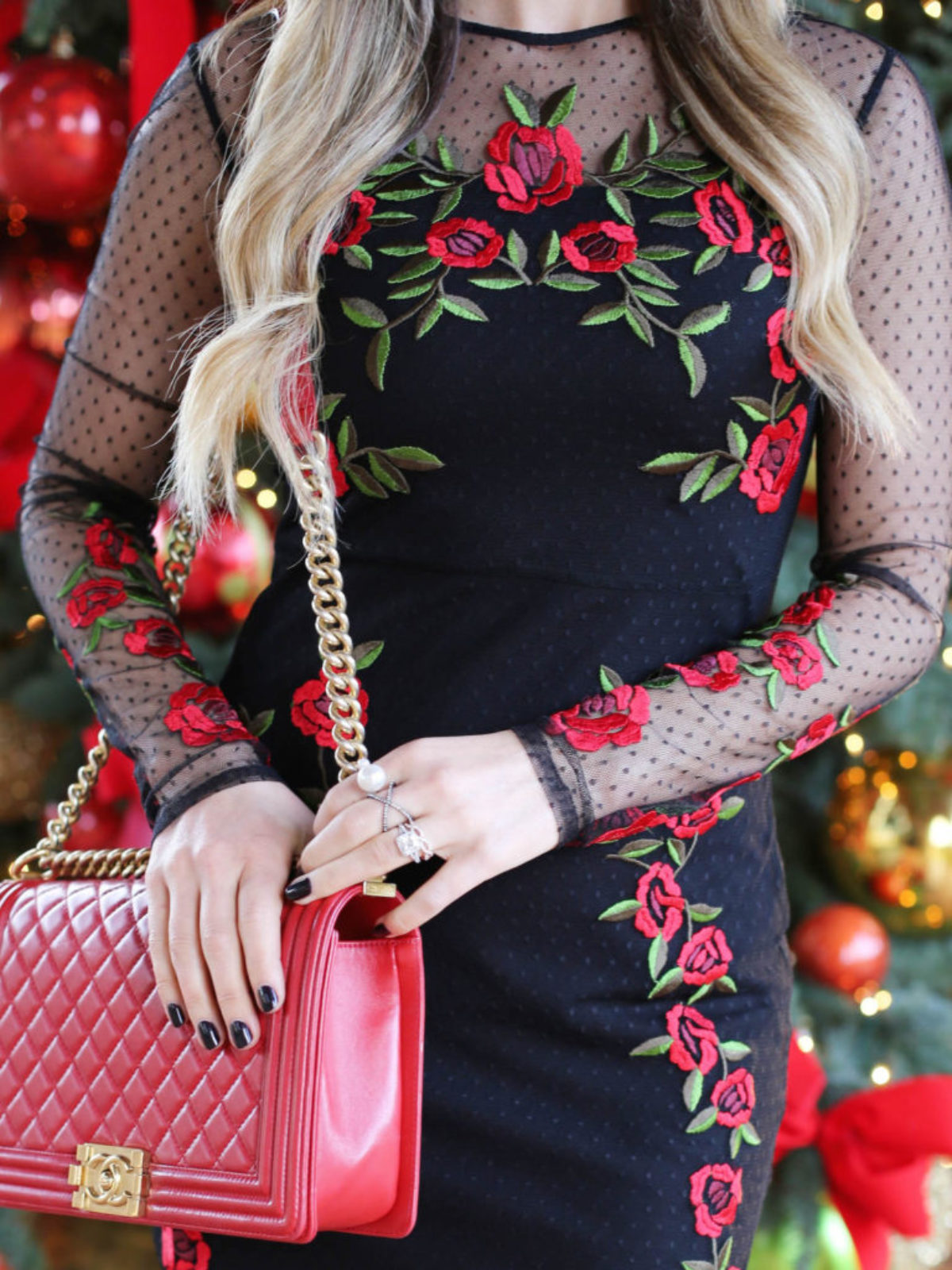 rose dress styled by kasey