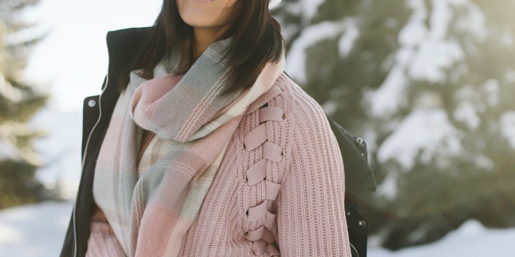 bundled up in blush