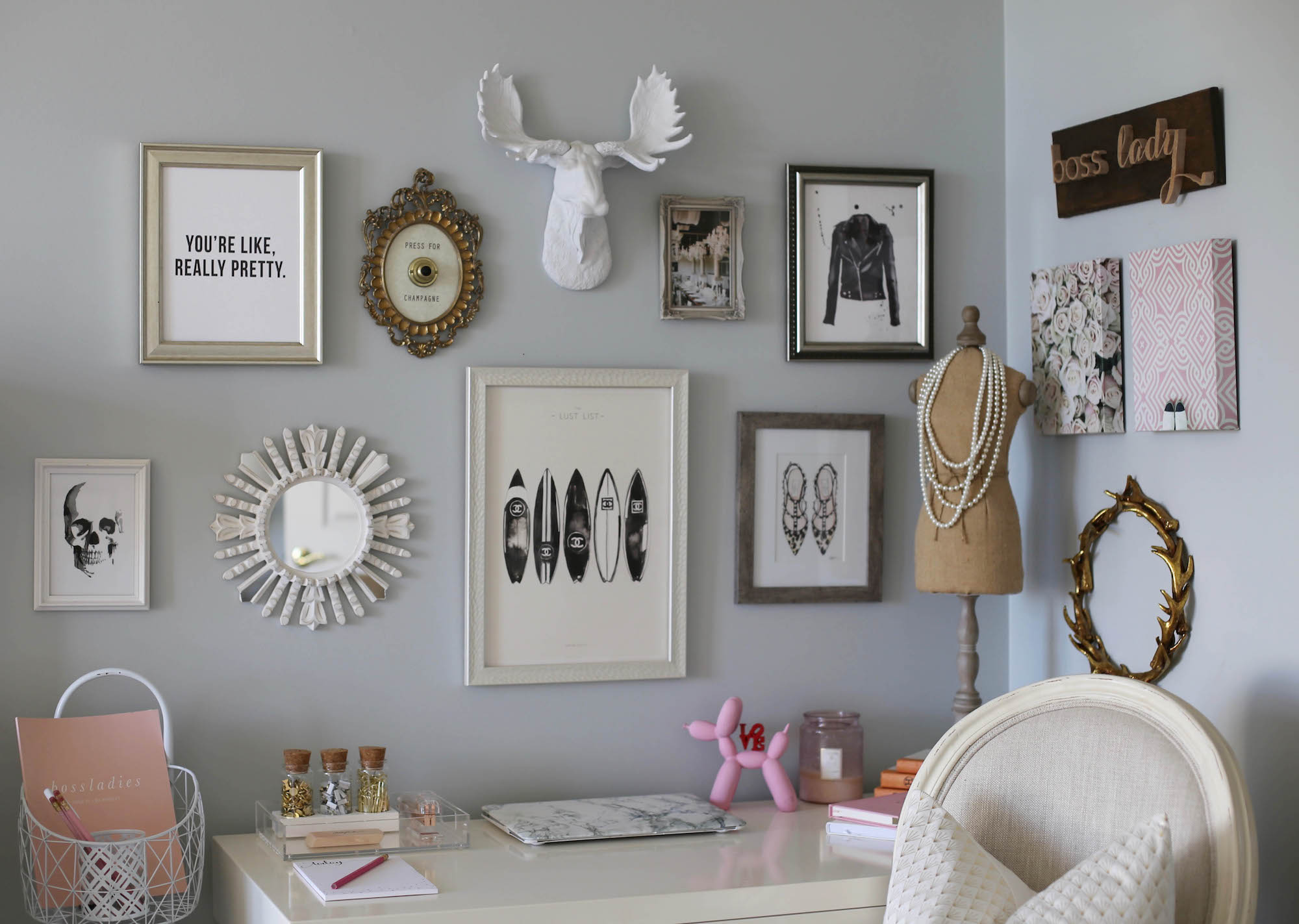 home office styled by kasey