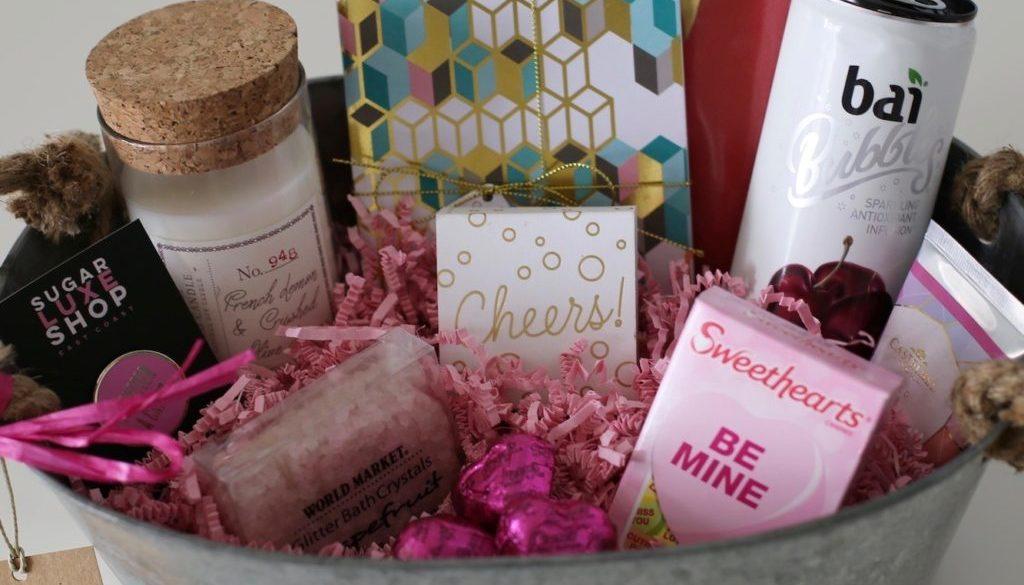 Diy Valentine S Day Gift Basket Styled By Kasey