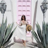 palm springs pleats_pink door