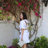 ruffle dress styled by kasey