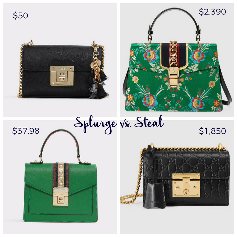 splurge vs steal handbags