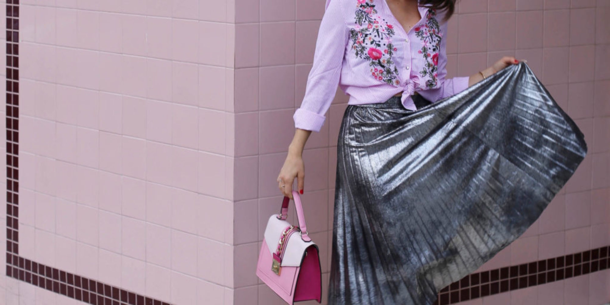 pleats and pink