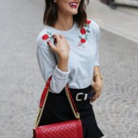 roses ruffles and red