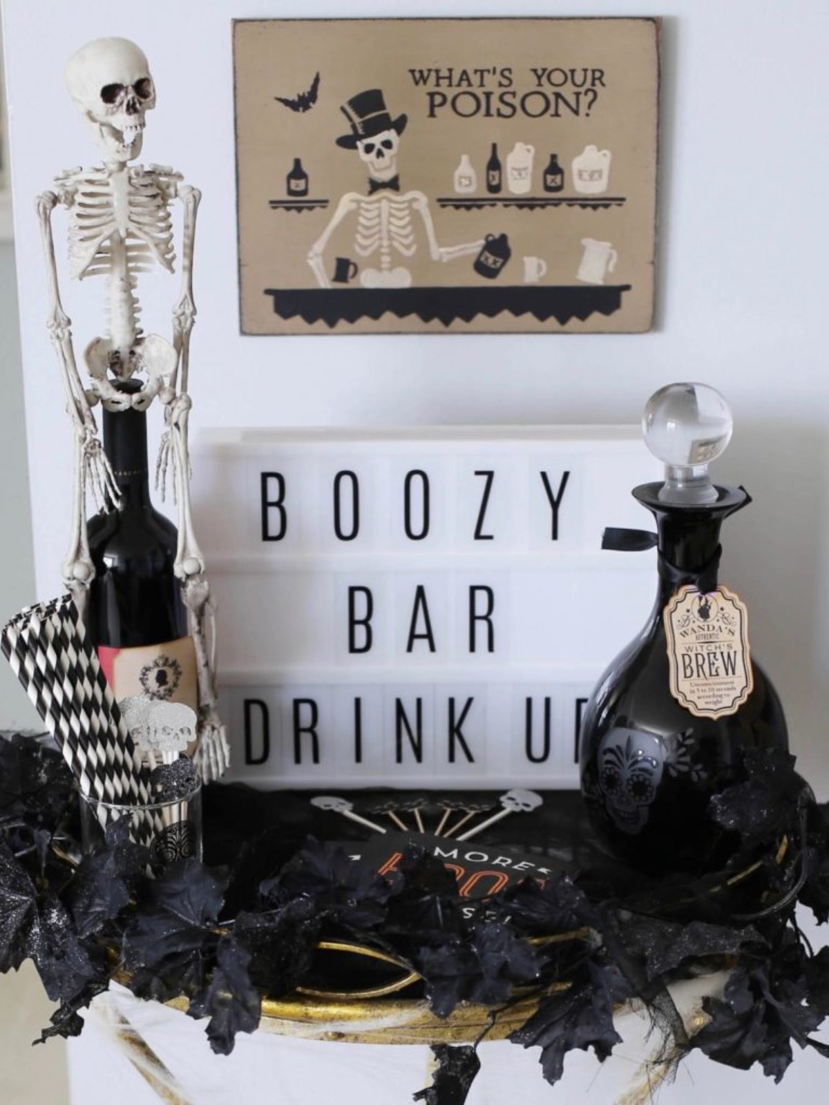 halloween boozy bar