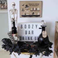 halloween boozy bar