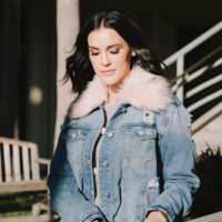 holiday trend faux fur jacket