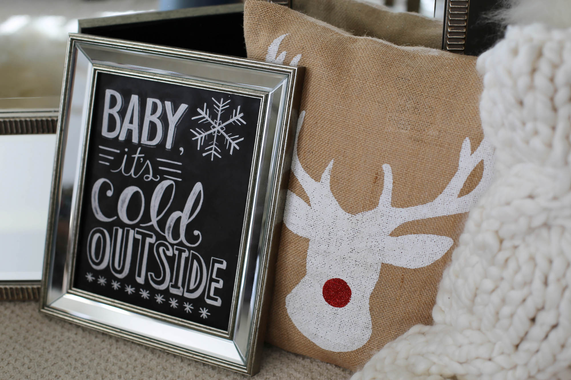 rustic chic holiday decor