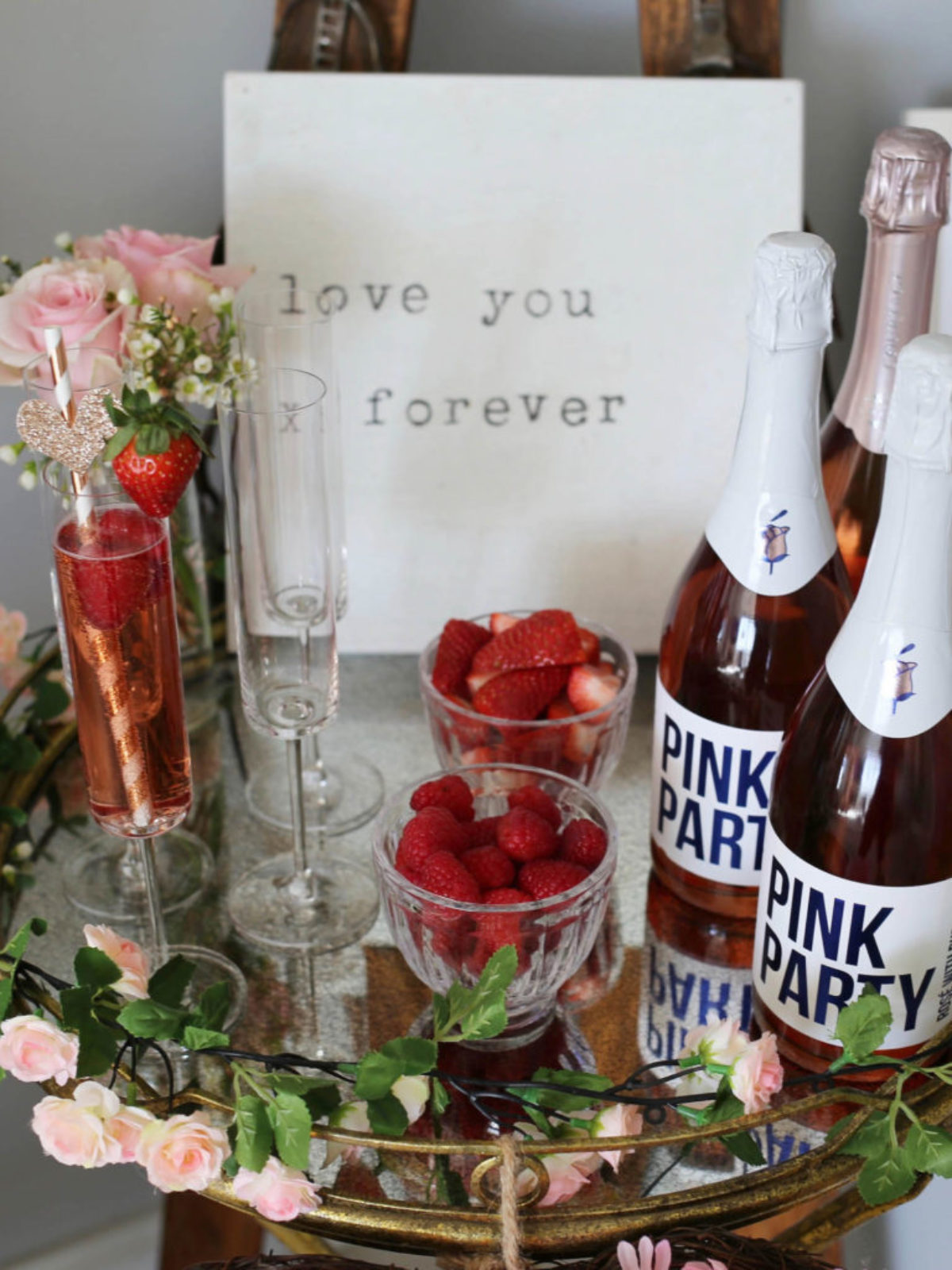 pink bubbly bar