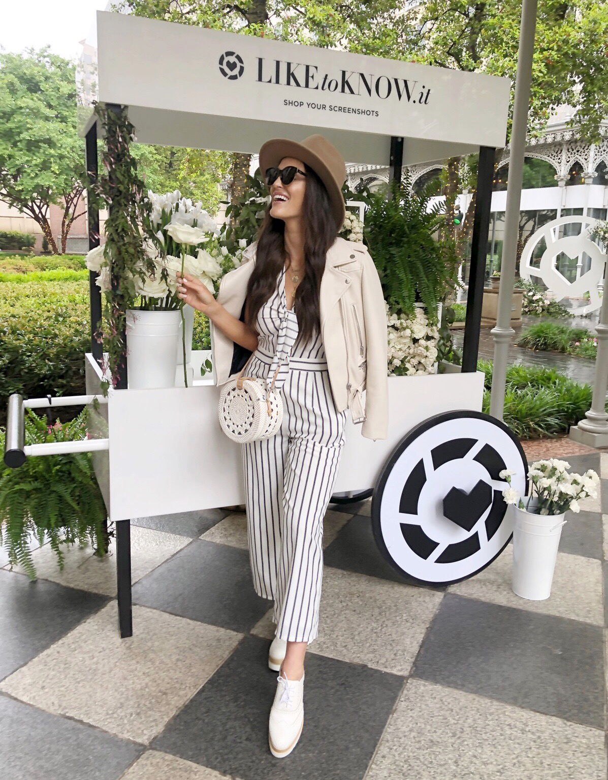 white jumpsuit ootd