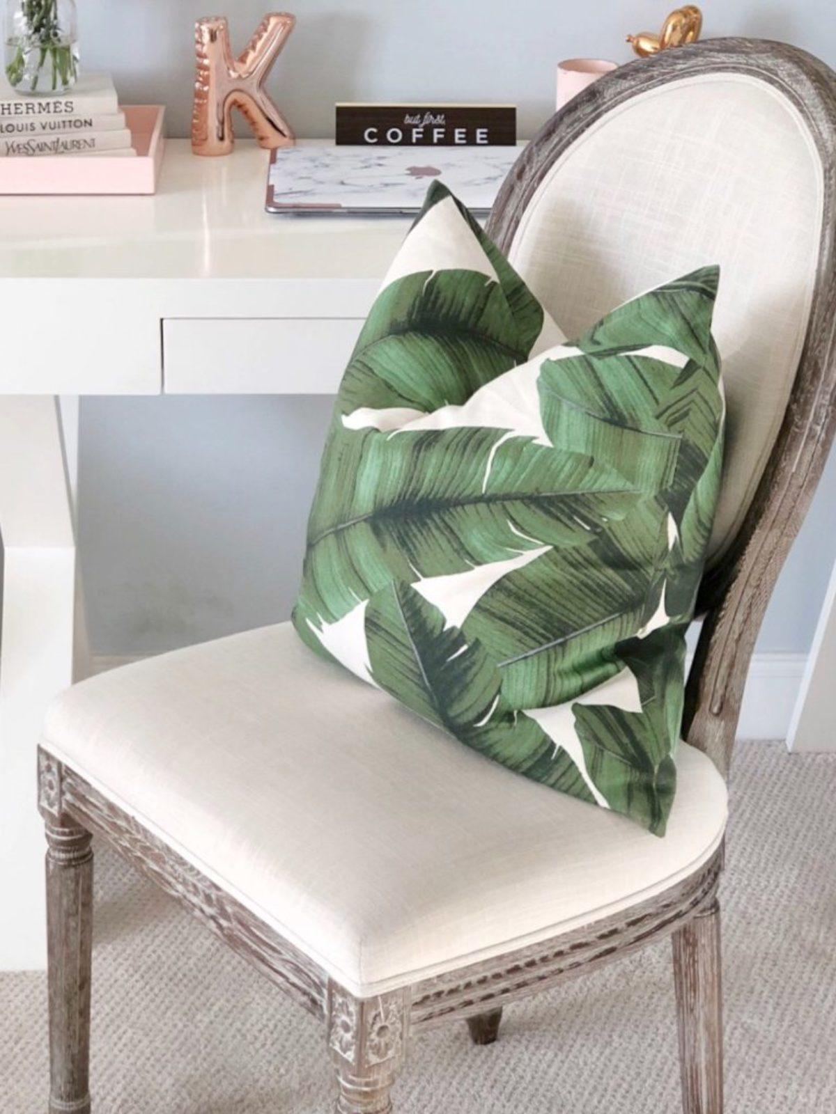 summer home deals leaf pillow