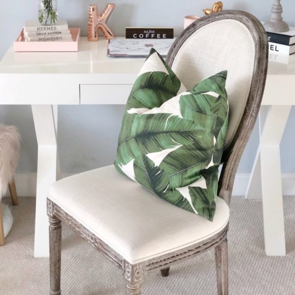 summer home deals leaf pillow