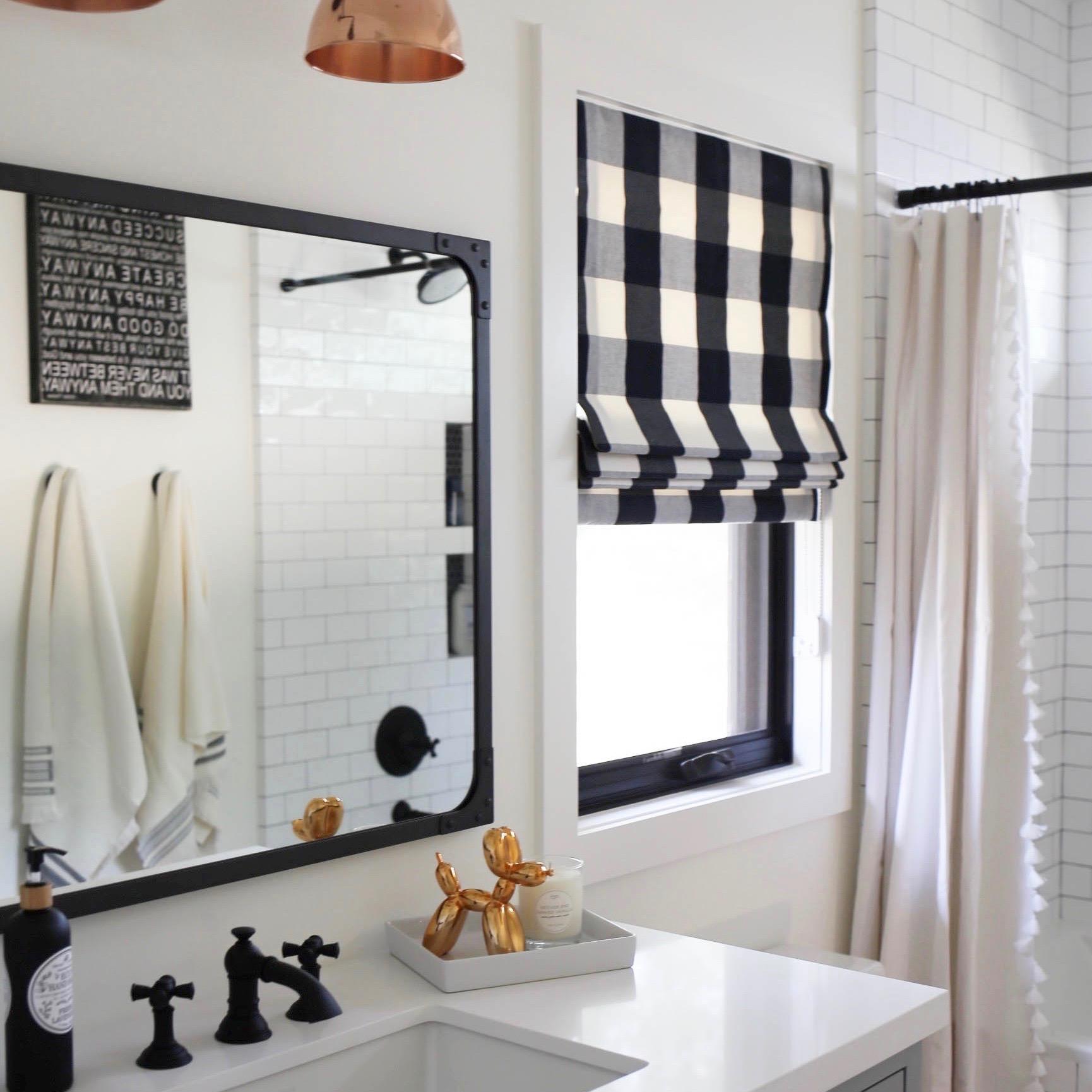 Black White Modern Farmhouse Kid Bathroom Styled By Kasey