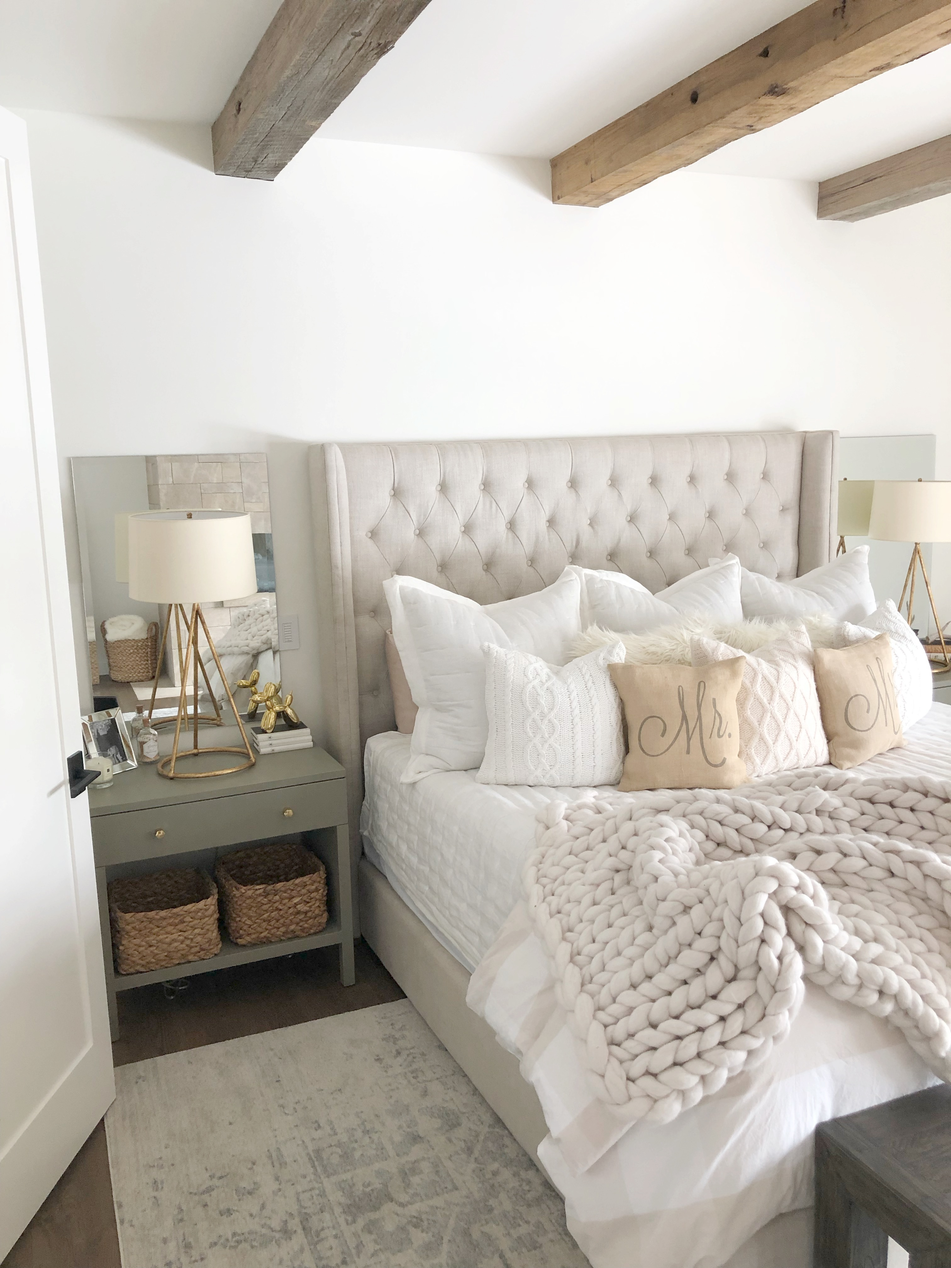 modern farmhouse bedroom - Styled By Kasey