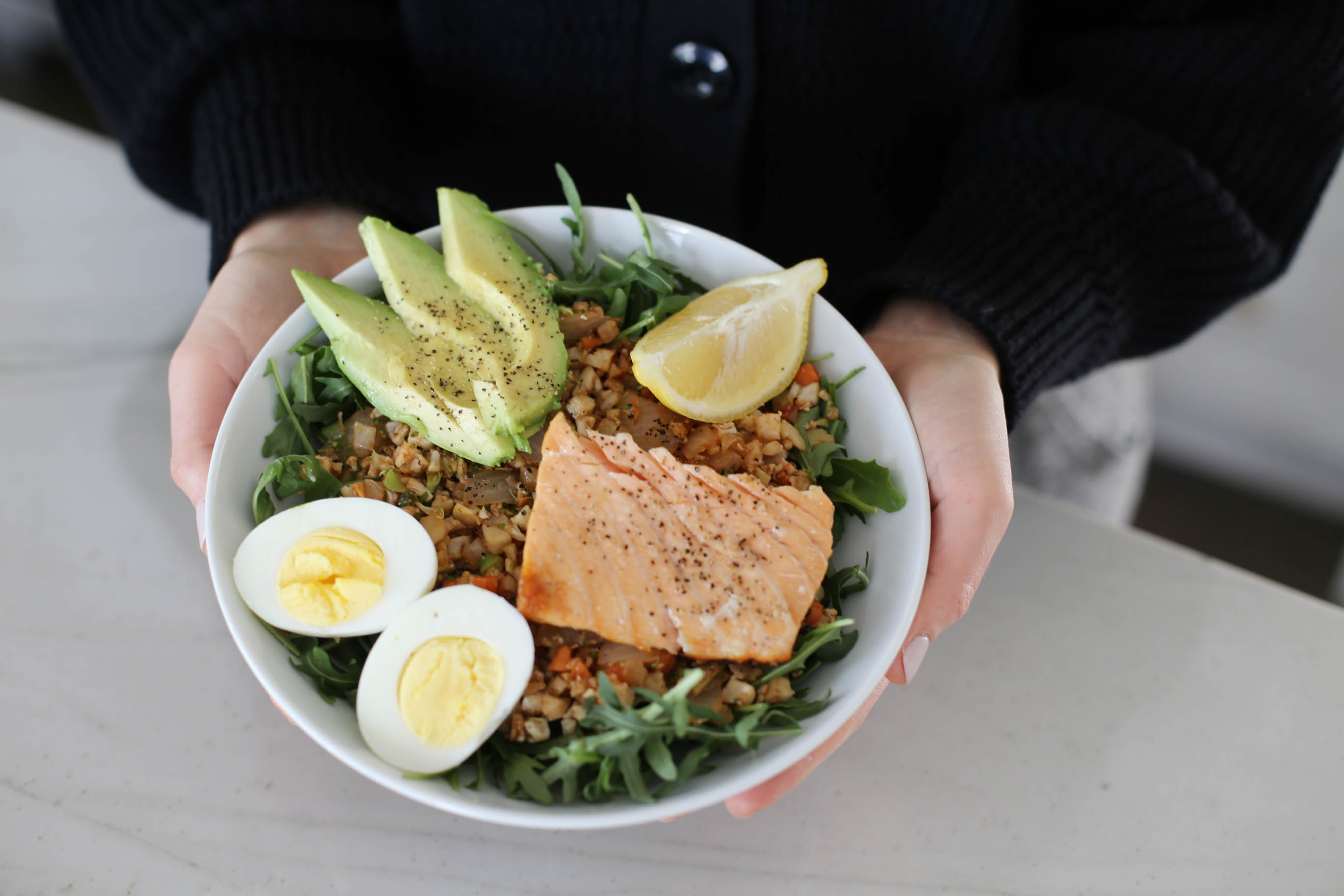 salmon paleo bowl