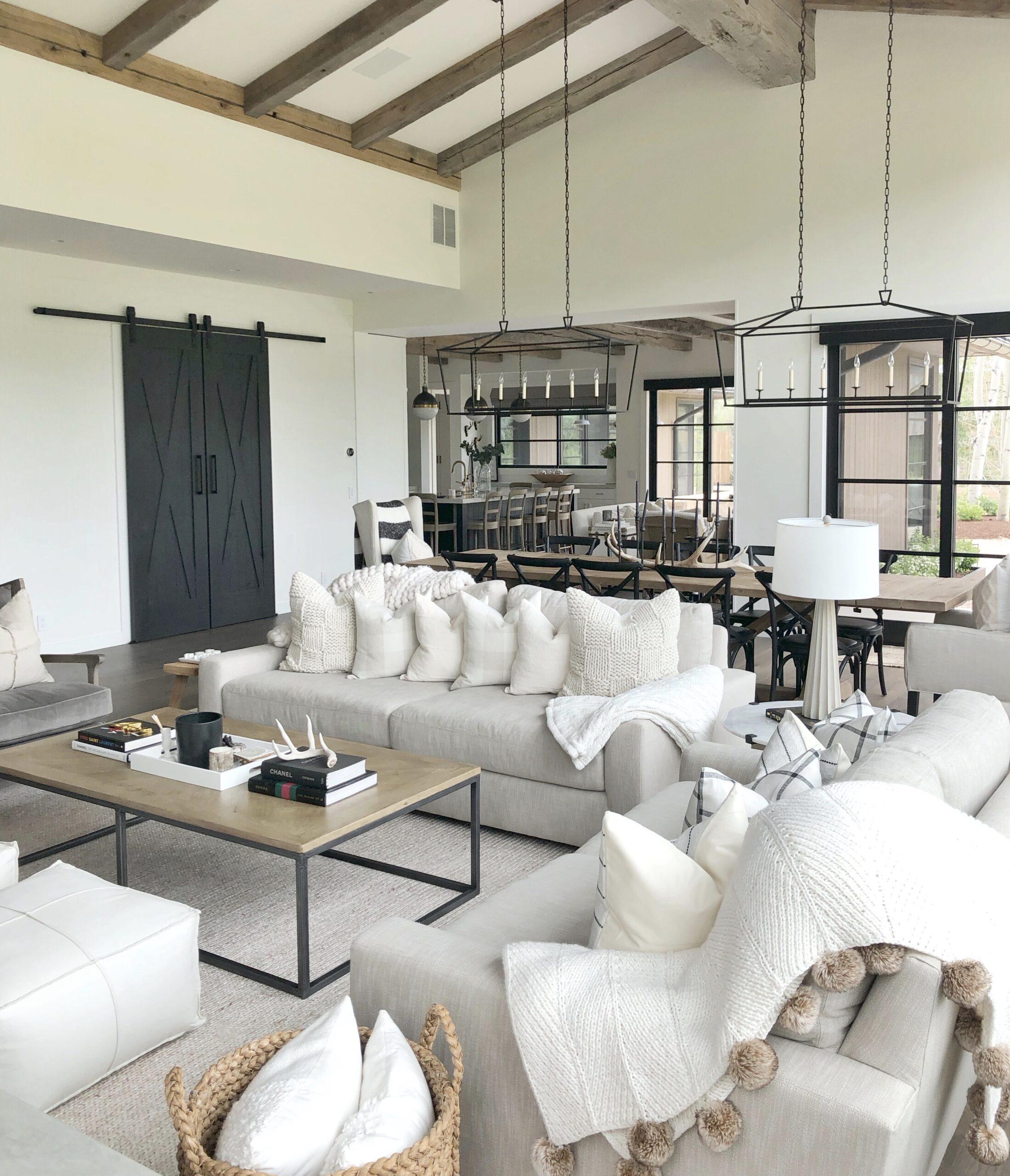 Modern Farmhouse Living Room Styled, Farmhouse Living Room