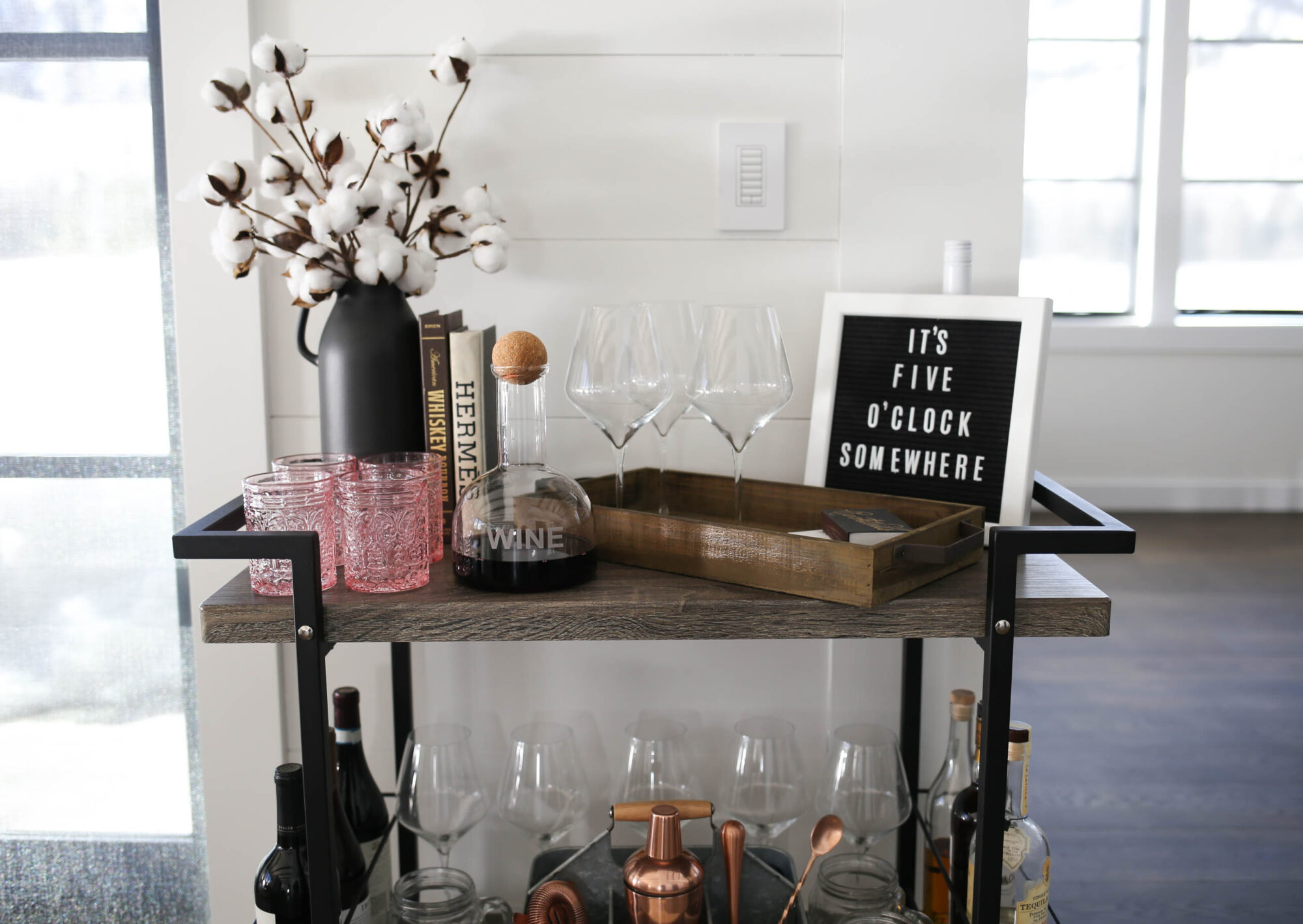 bar cart styling home depot