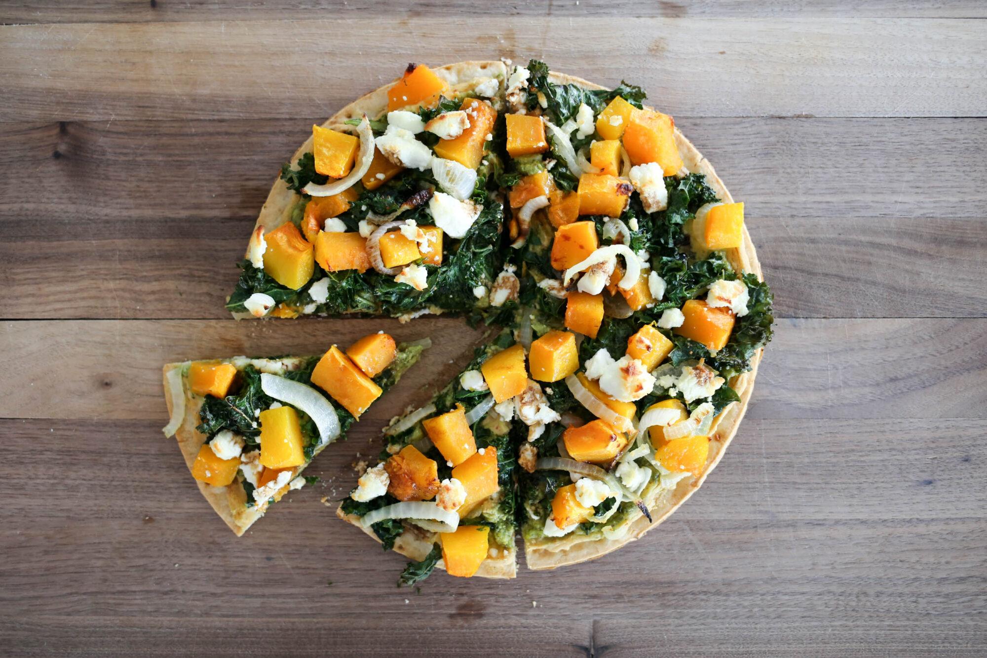 fall cauliflower crust pizza