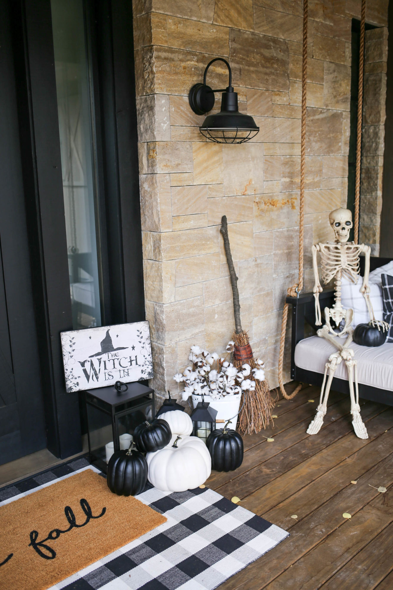 farmhouse halloween front porch
