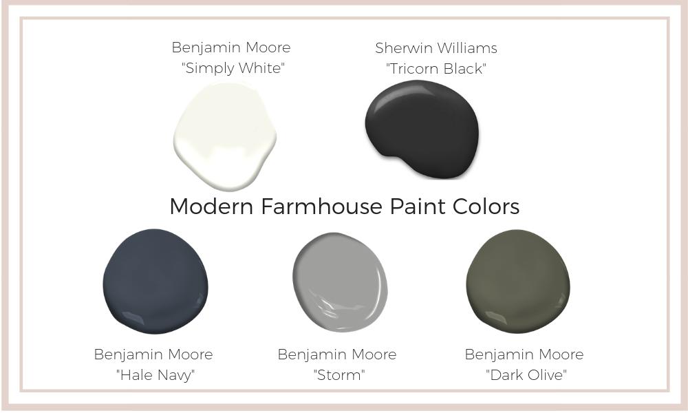 modern farmhouse paint colors