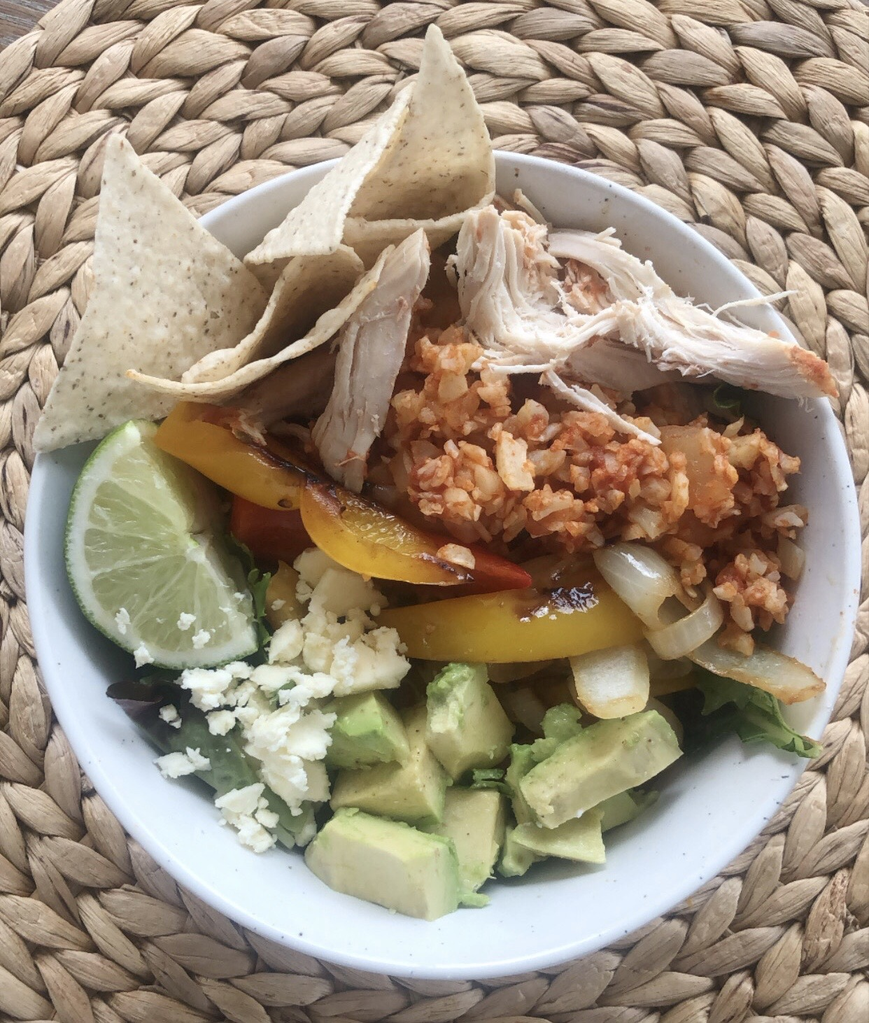 chicken fajita bowl